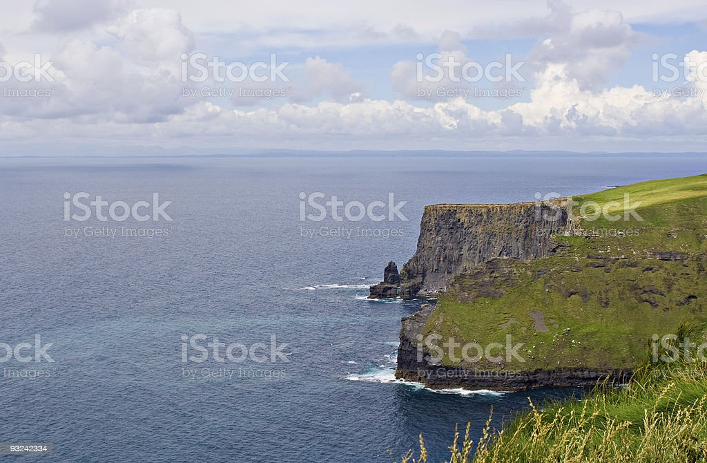 Atlantic Ocean and Cliffs of Moher royalty-free stock photo