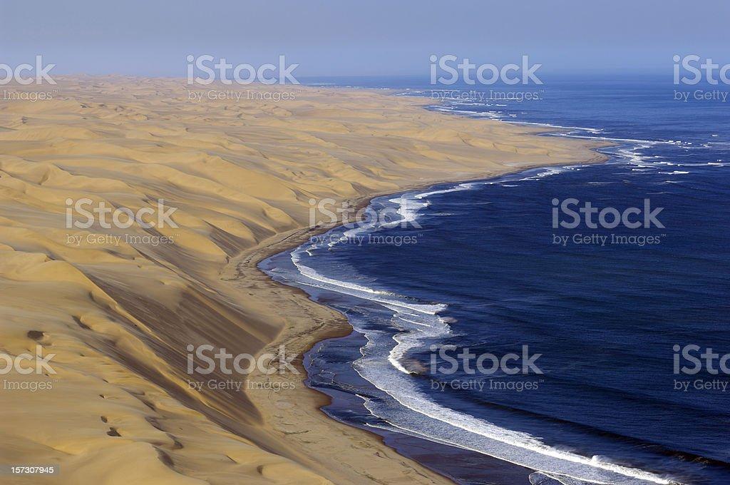 Atlantic ocean and the big dunes stock photo
