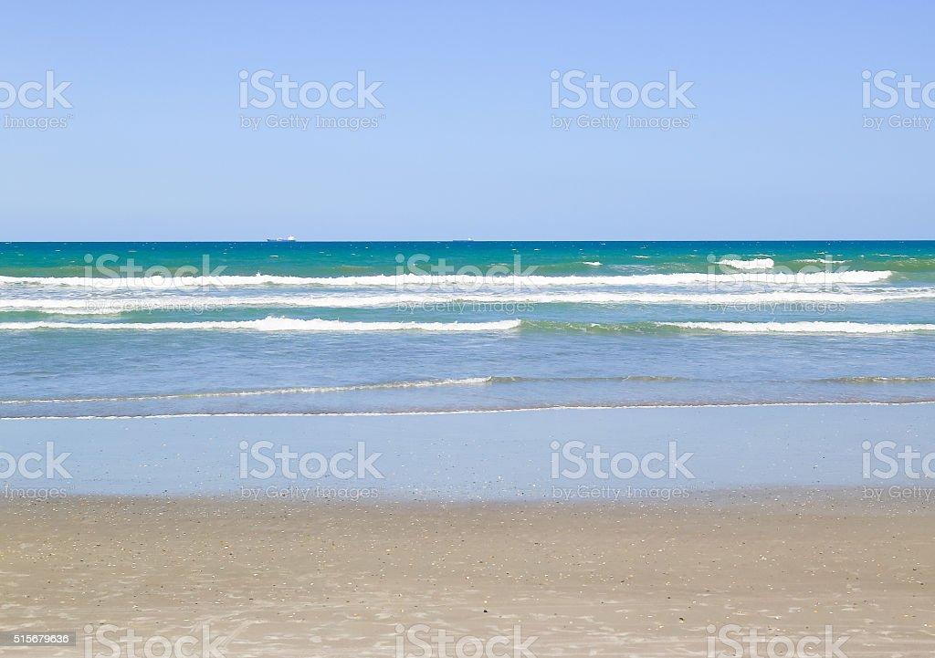 Atlantic Ocean at Cocoa Beach stock photo