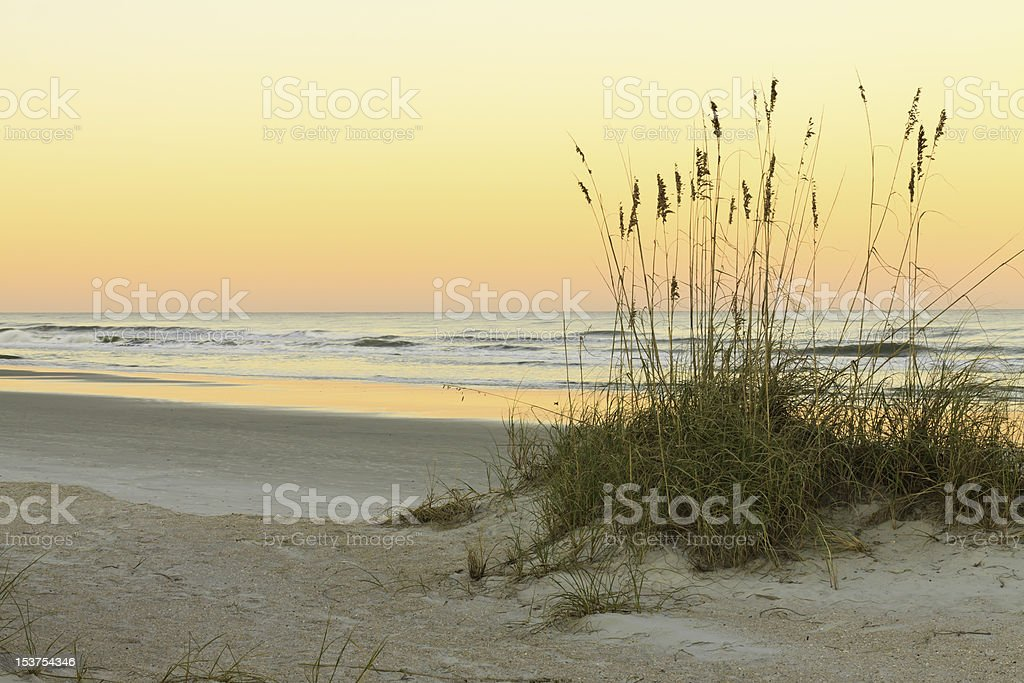 Atlantic Ocean At End Of The Day stock photo