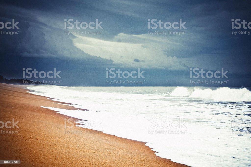 Atlantic Ocean before tropical storm. stock photo