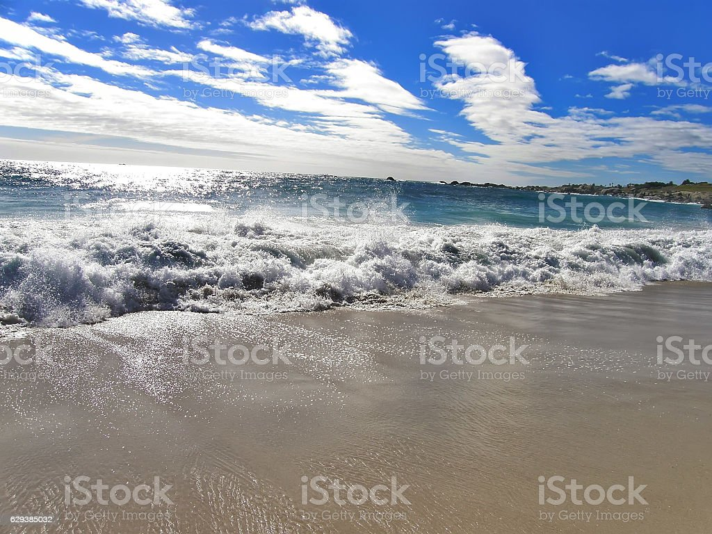 Atlantic Ocean, Camps Bay beach area stock photo
