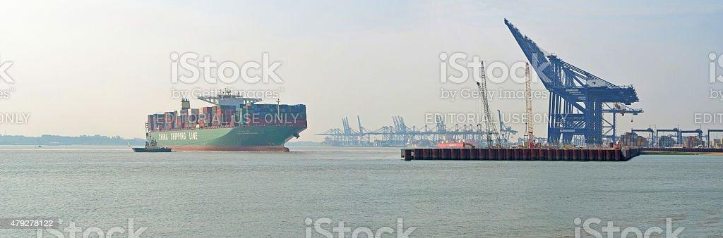 CSCL Atlantic Ocean stock photo