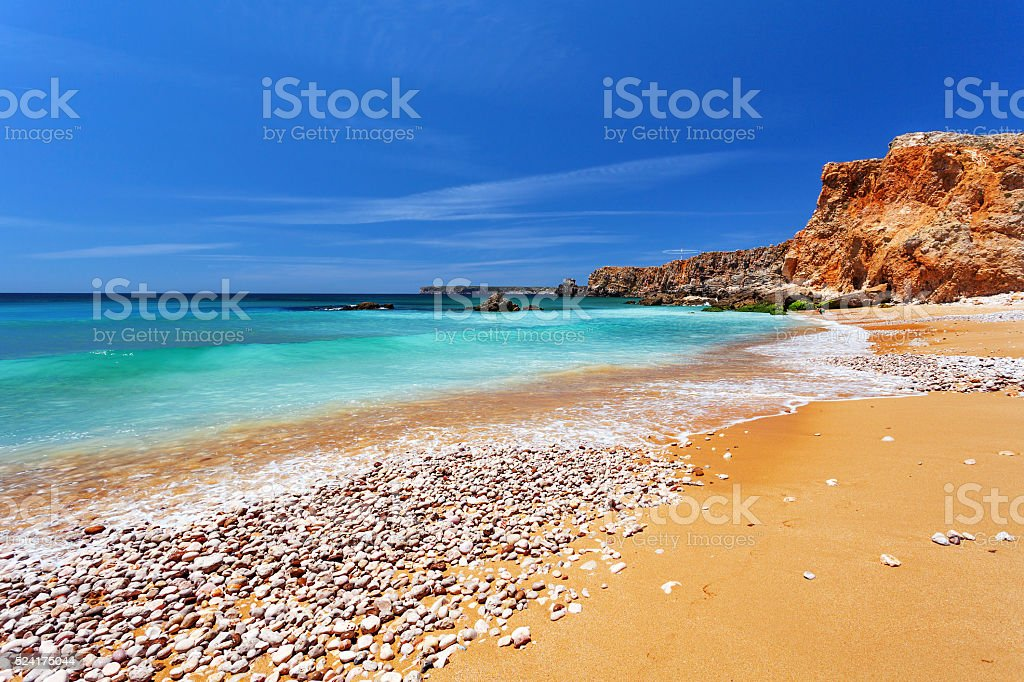Atlantic ocean - Sagres Algarve Portugal stock photo
