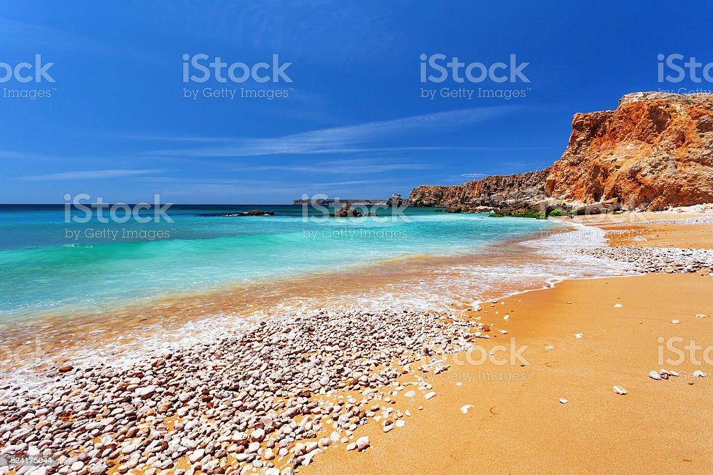 Atlantic ocean - Sagres Algarve Portugal stock photo