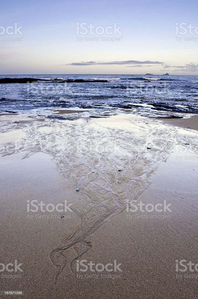 Atlantic ocean surf and beach scenic in Cornwall, England royalty-free stock photo