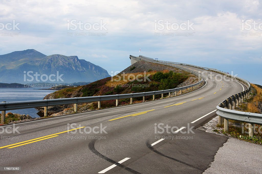 Atlantic Road in Norway stock photo