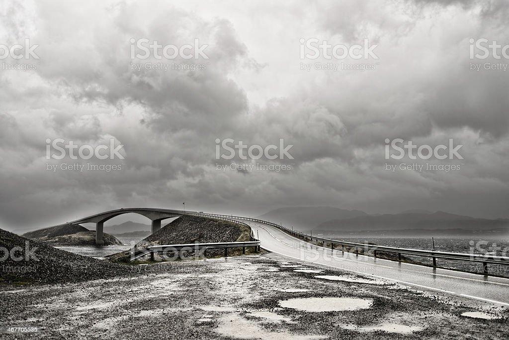 Atlantic road stock photo
