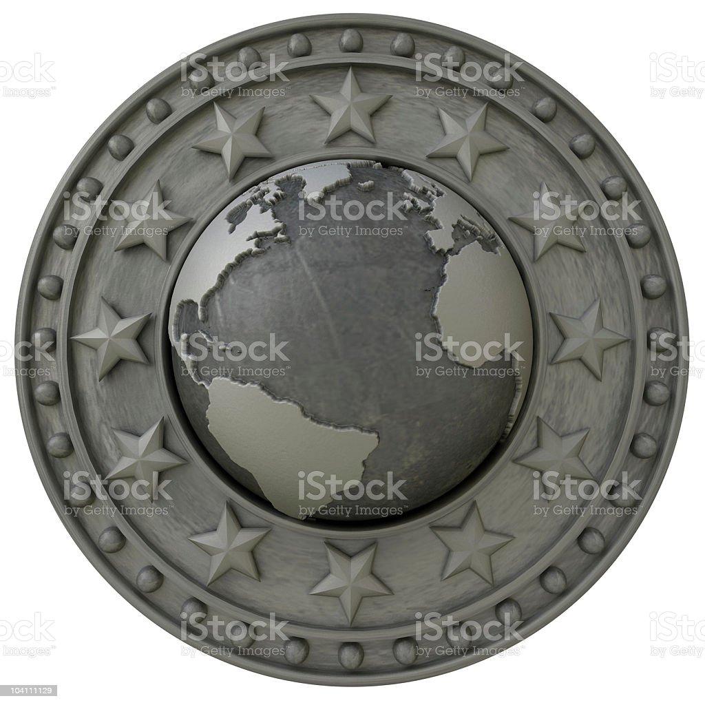 Atlantic shield royalty-free stock photo
