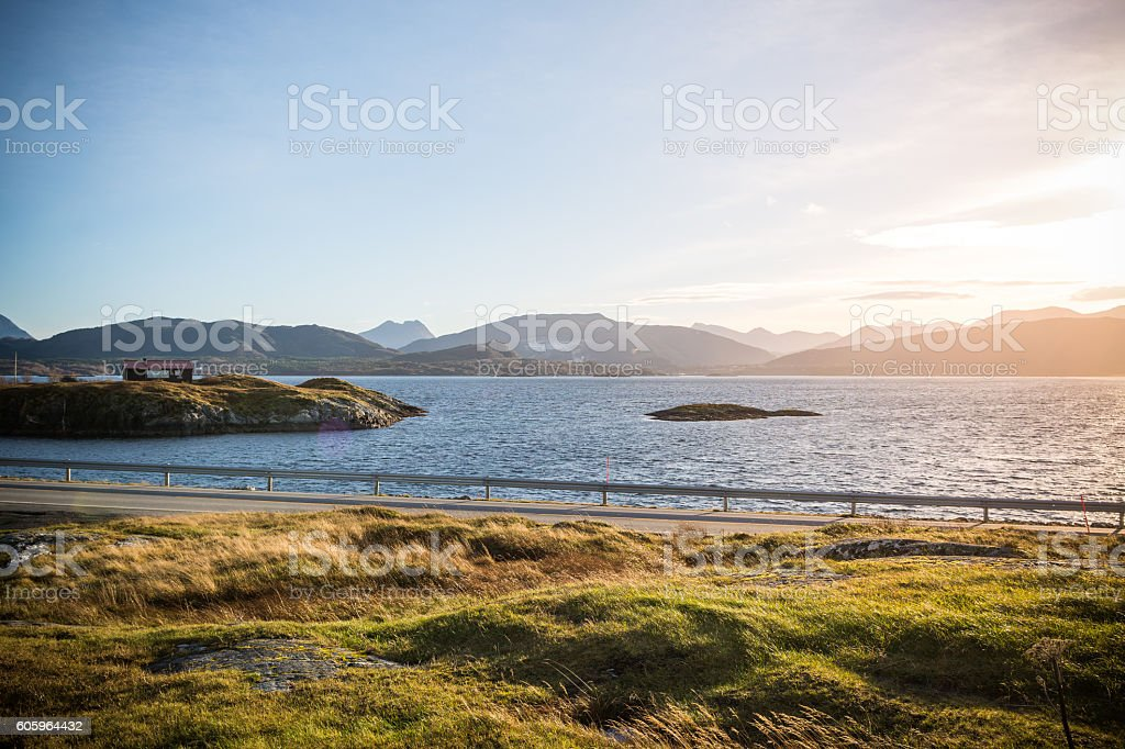 Atlantic Street, Norway stock photo