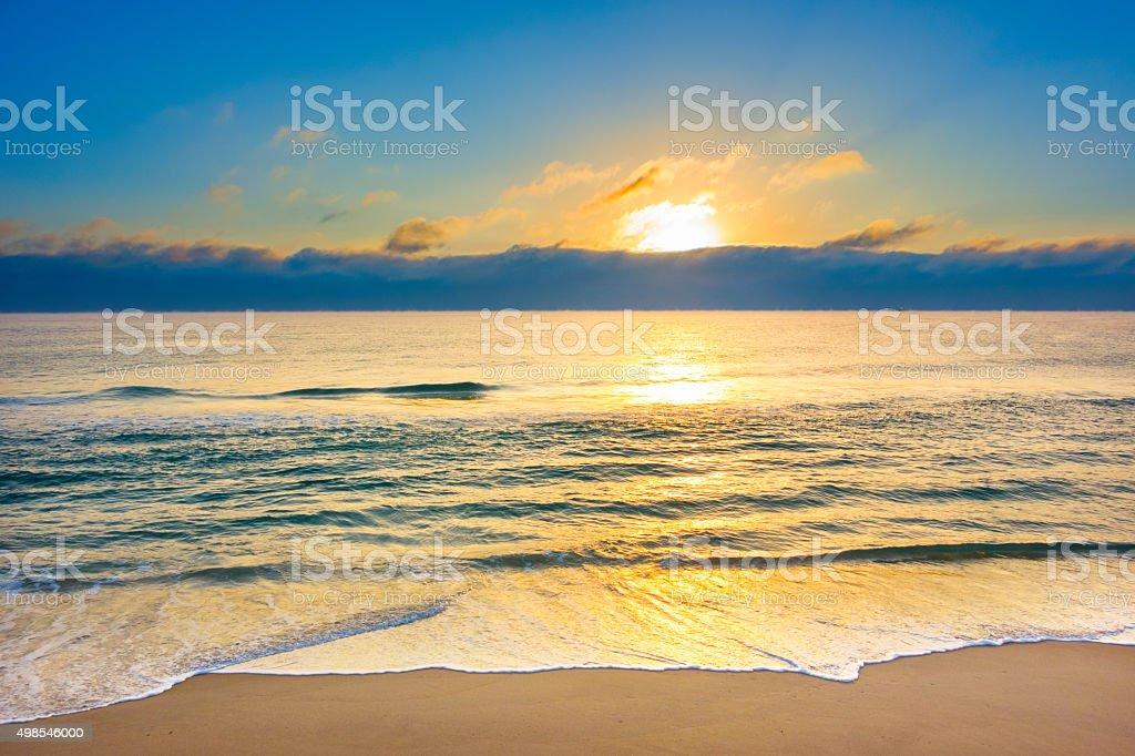 Atlantic Sunrise and Beach Florida USA stock photo