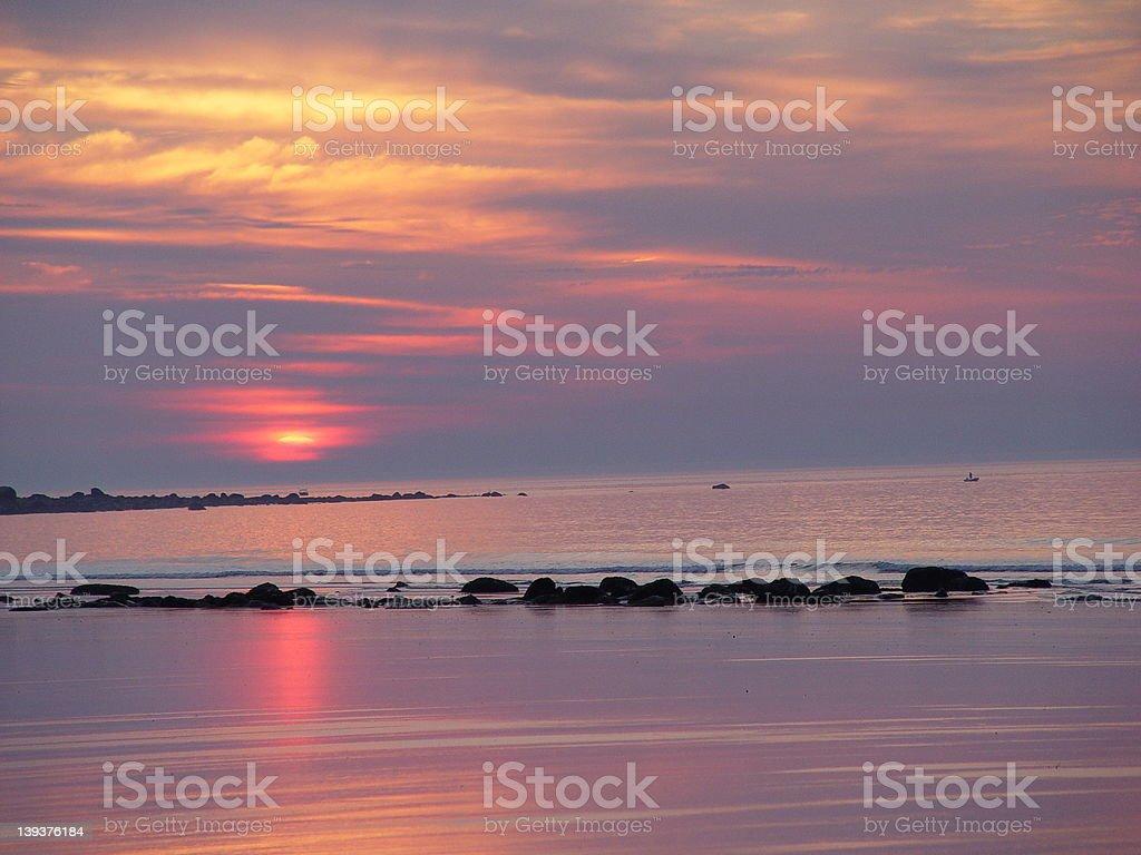 Atlantic Sunrise royalty-free stock photo