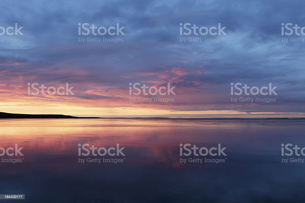 Atlantic sunset royalty-free stock photo