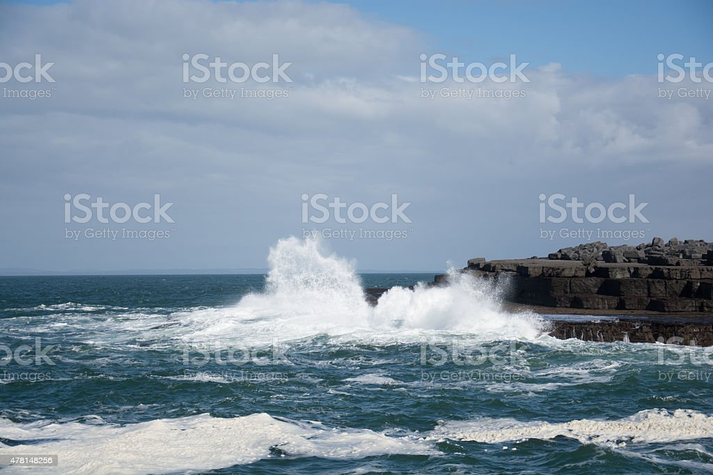 Atlantic wave - Doolin royalty-free stock photo