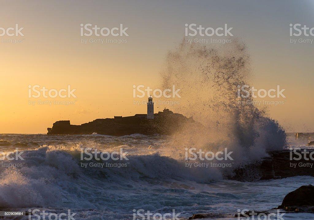 Atlantic Waves stock photo