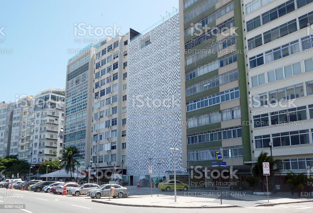 Atlantica Avenue in Copacabana stock photo