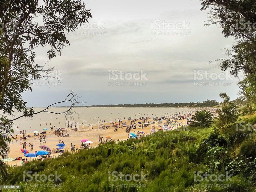 Atlantida Beach in Uruguay stock photo