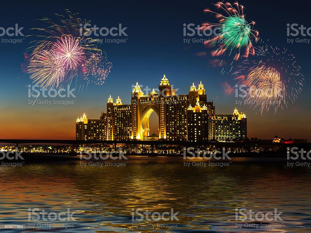 Atlantis Hotel in Dubai. UAE stock photo