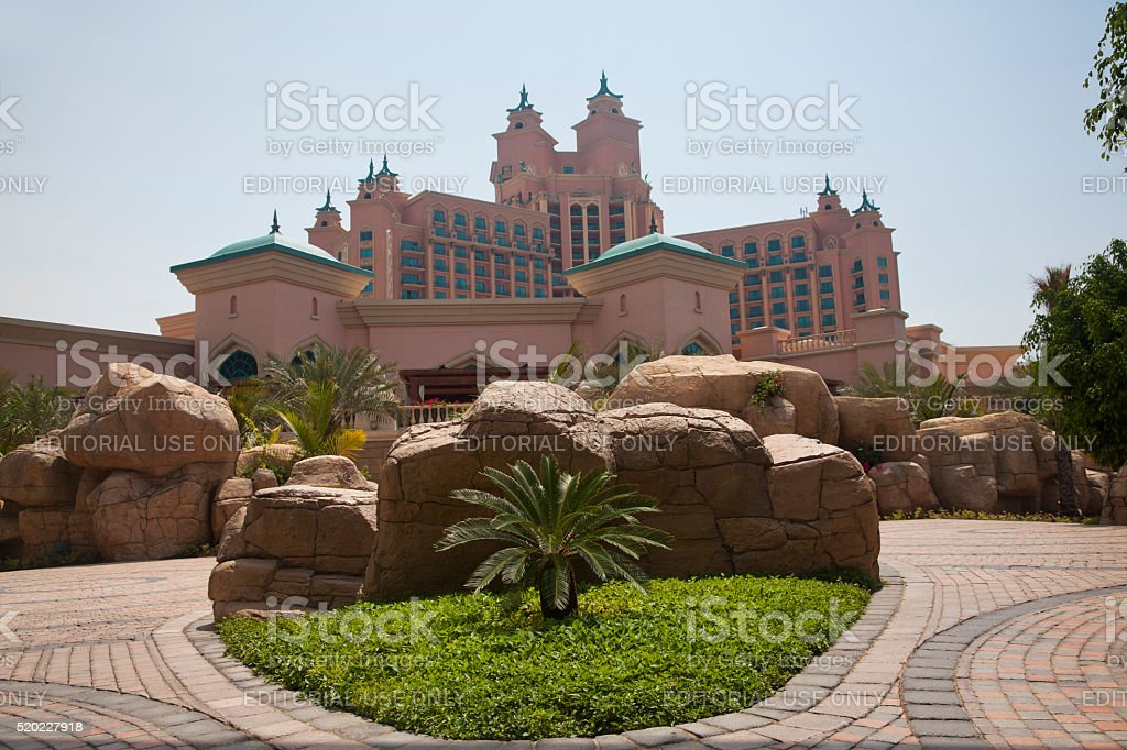 Atlantis hotel on Palm Jumeirah island, Dubai stock photo
