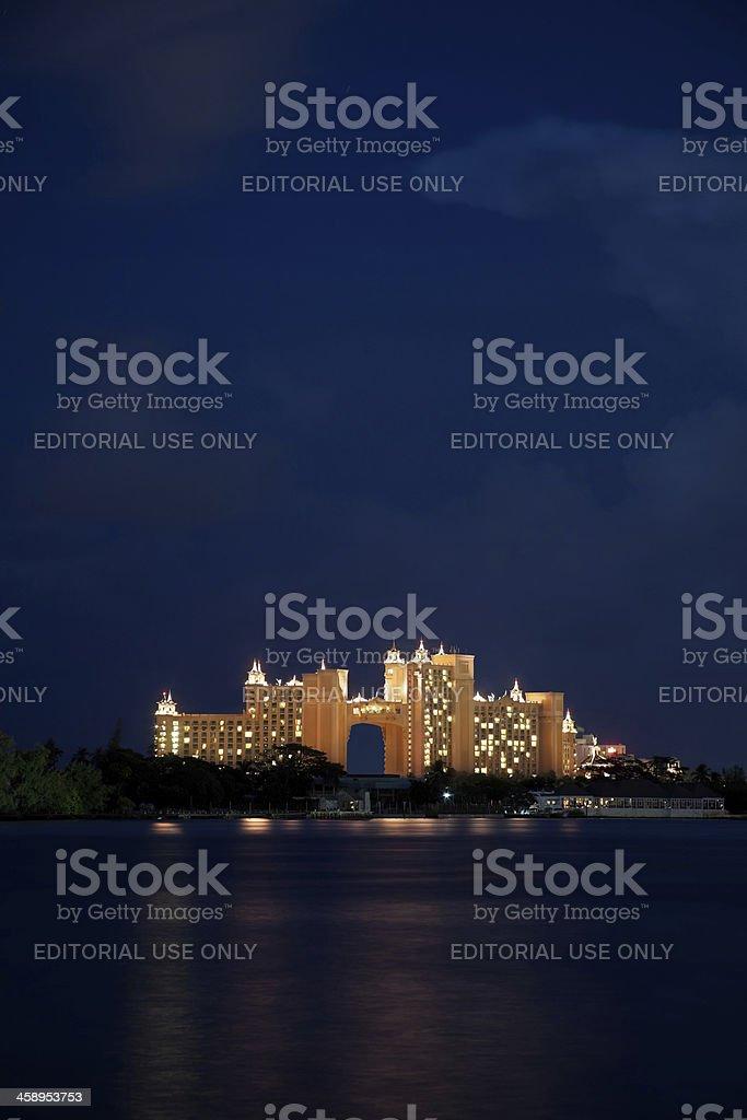 Atlantis resort by night stock photo
