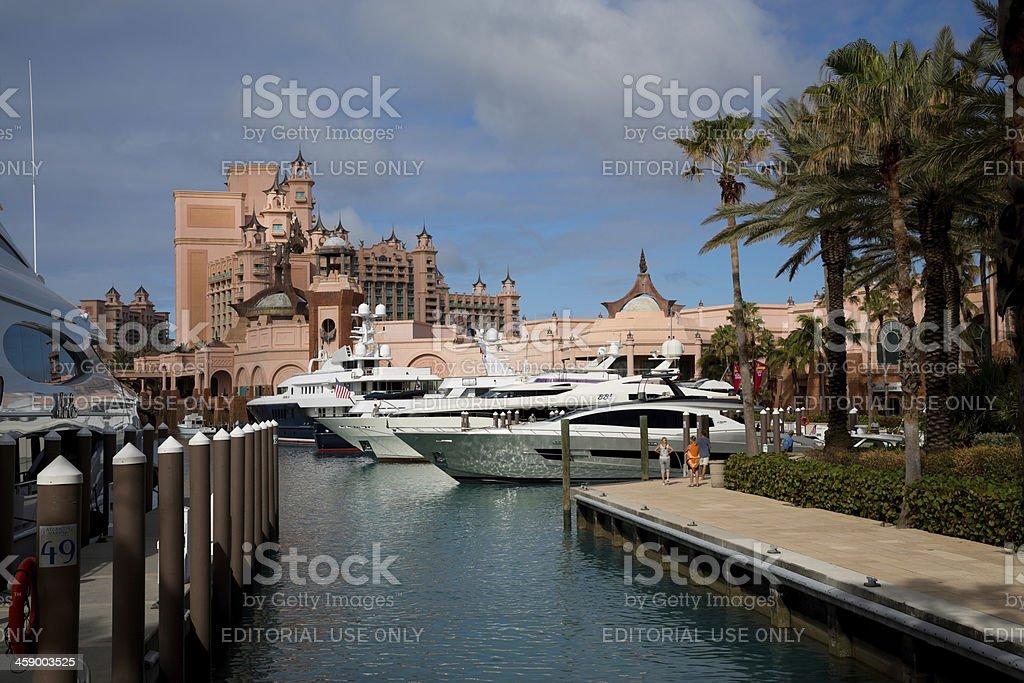 Atlantis Resort in Nassau, Bahamas, Paradise Island stock photo