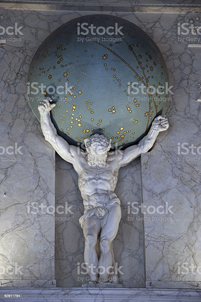 Atlas Carries The Earth royalty-free stock photo