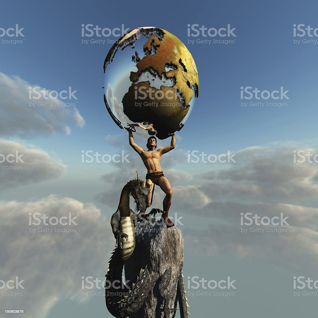 Atlas Greek God stock photo
