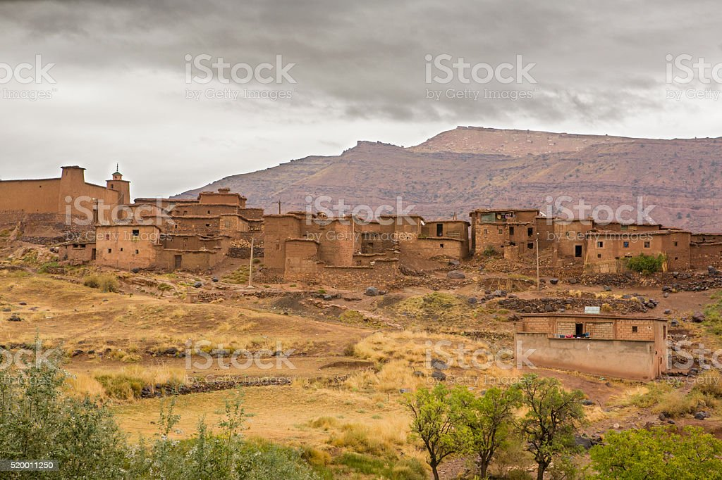 Atlas mountain town, Morocco stock photo