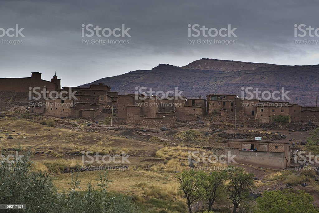 Atlas mountain town stock photo