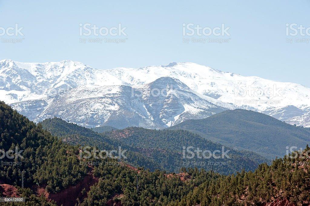 Atlas mountain vista, Morocco stock photo