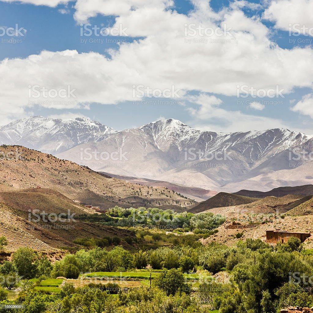 Atlas Mountains Errachidia Oasis Morocco stock photo