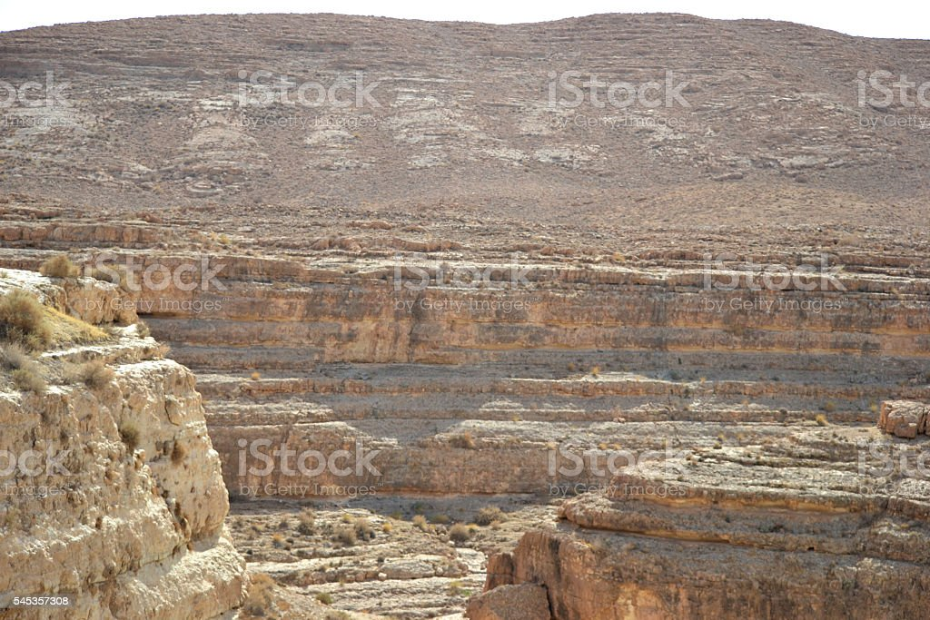 Atlas mountains in Tunisia,North Africa stock photo