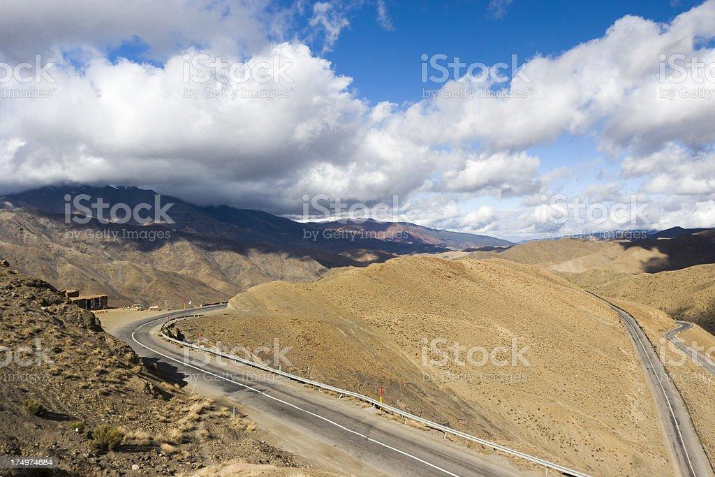 Atlas mountains landscape royalty-free stock photo