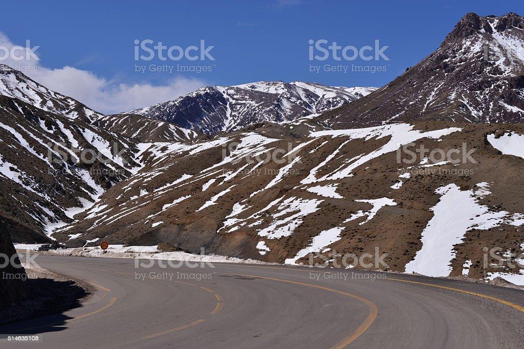 Atlas Mountains Road, Morocco stock photo