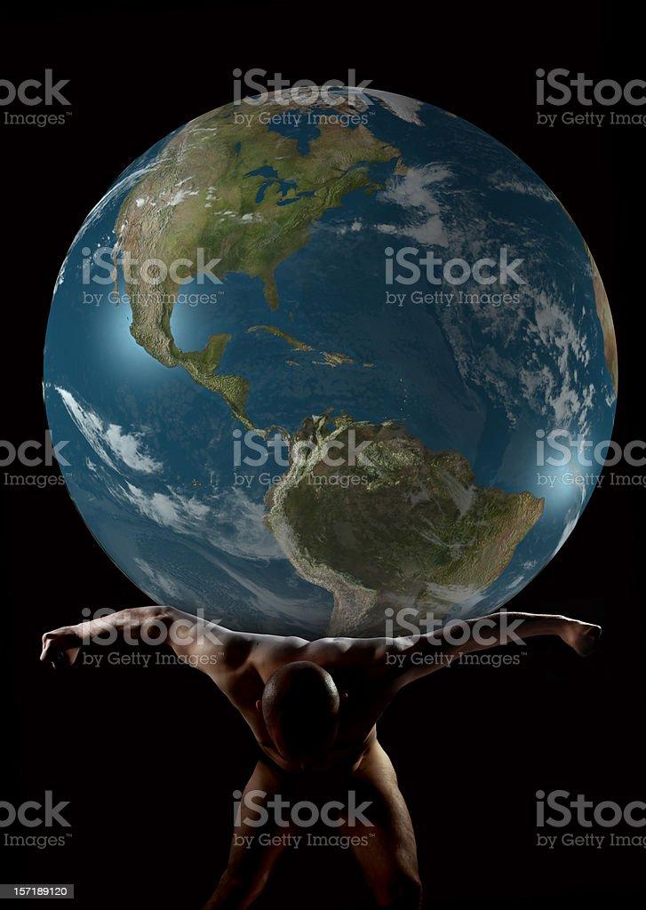 Atlas royalty-free stock photo
