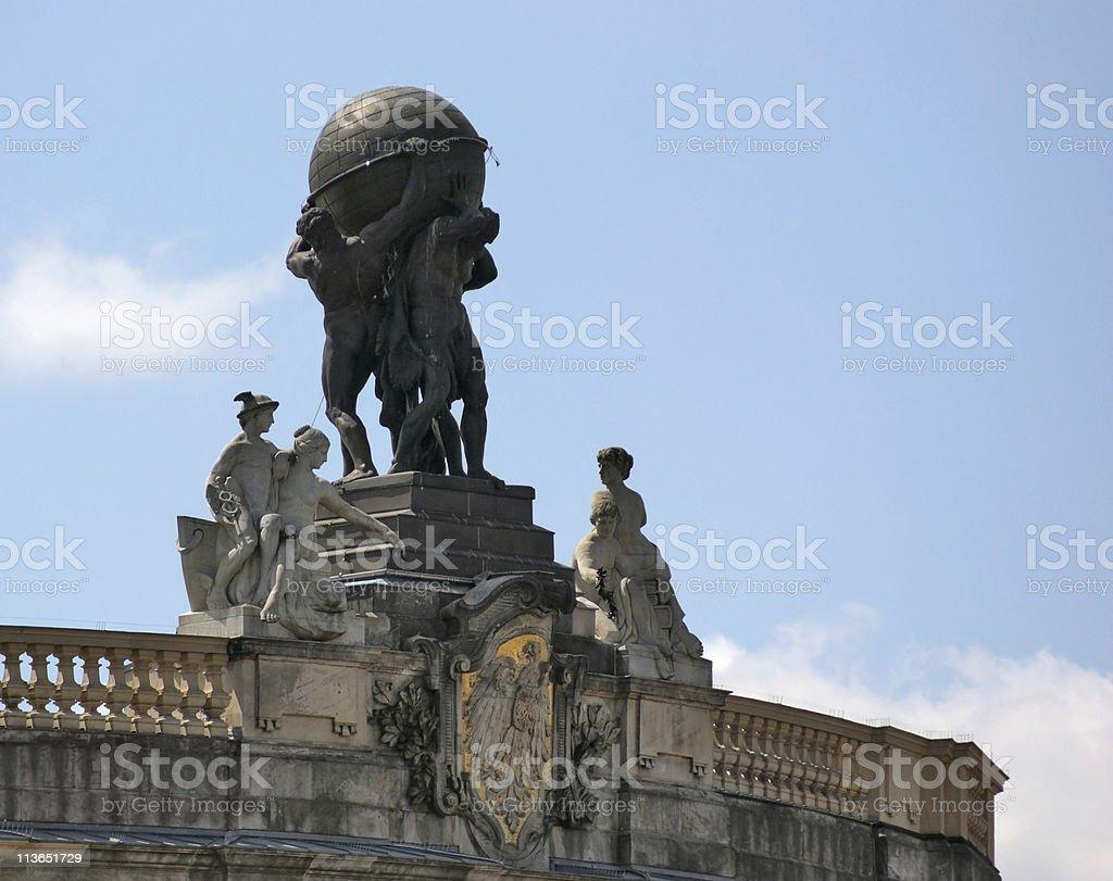 Atlas statue in Berlin stock photo