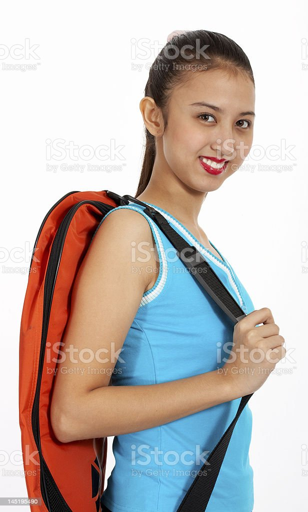 atlethic young girl stock photo