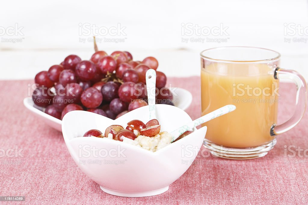 Оatmeal with maple syrup royalty-free stock photo