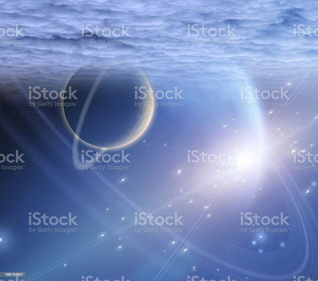 Atmosphere and planets royalty-free stock photo
