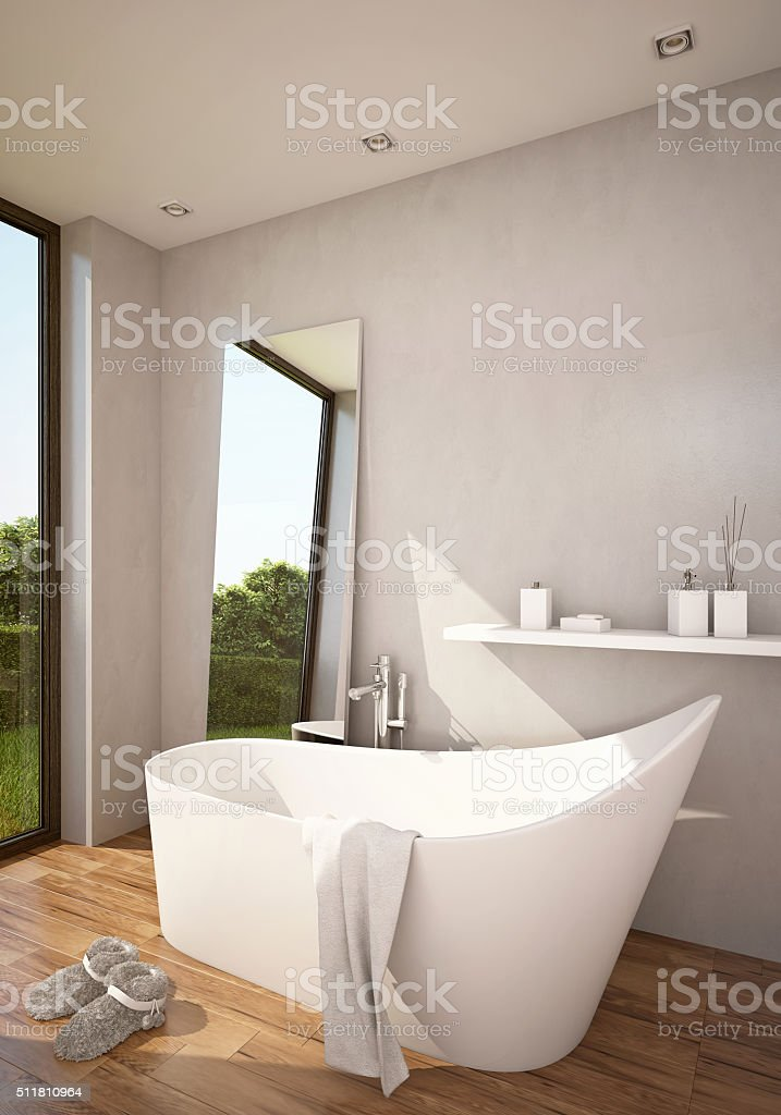 Atmosphere Bathroom in Sun stock photo