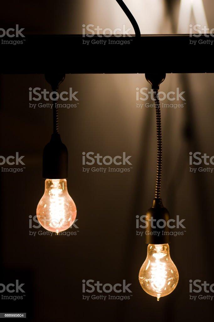 Atmosphere bulbs stock photo