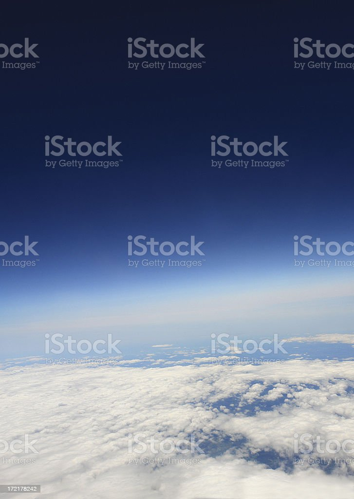 Atmosphere of the Planet Earth royalty-free stock photo