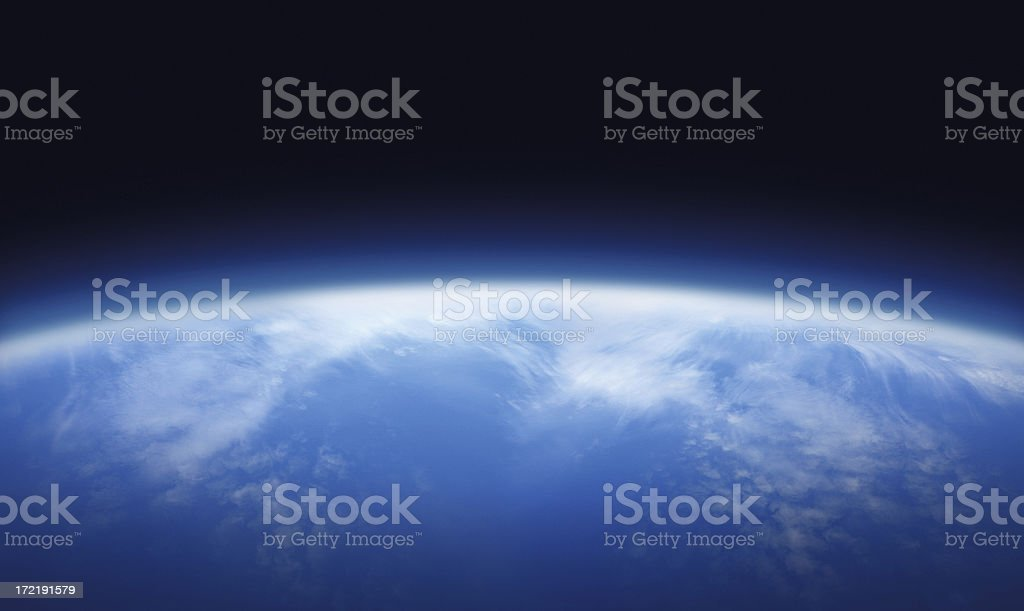Atmosphere of the Planet Earth stock photo