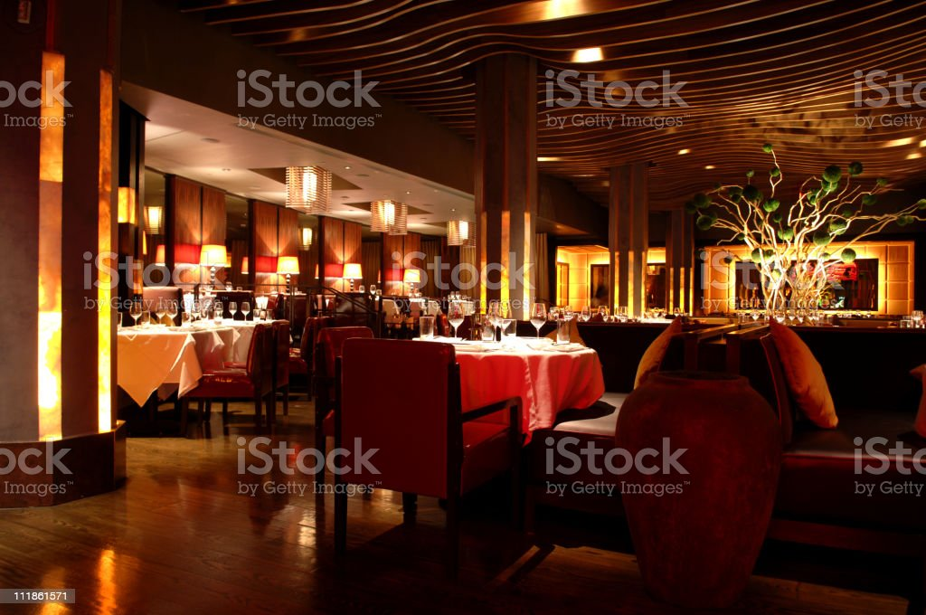 Atmosphere Restaurant Asian Fusion royalty-free stock photo