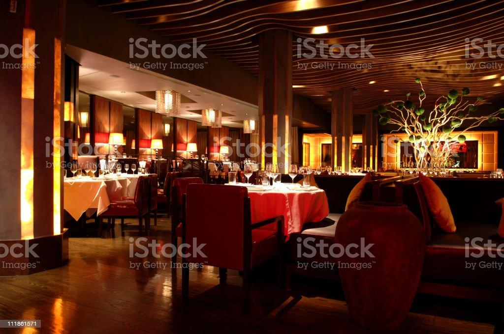 Atmosphere Restaurant Asian Fusion stock photo