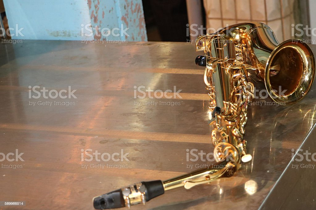 Atmosphere saxophone stock photo