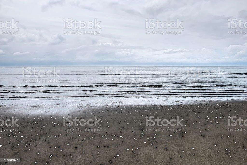 Atmospheric Cloudy Seascape stock photo