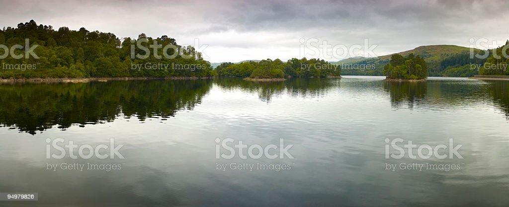 Atmospheric loch panorama royalty-free stock photo