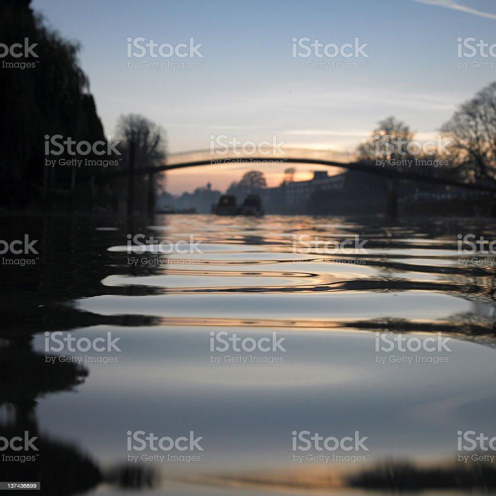 Atmospheric river landscape at dusk royalty-free stock photo