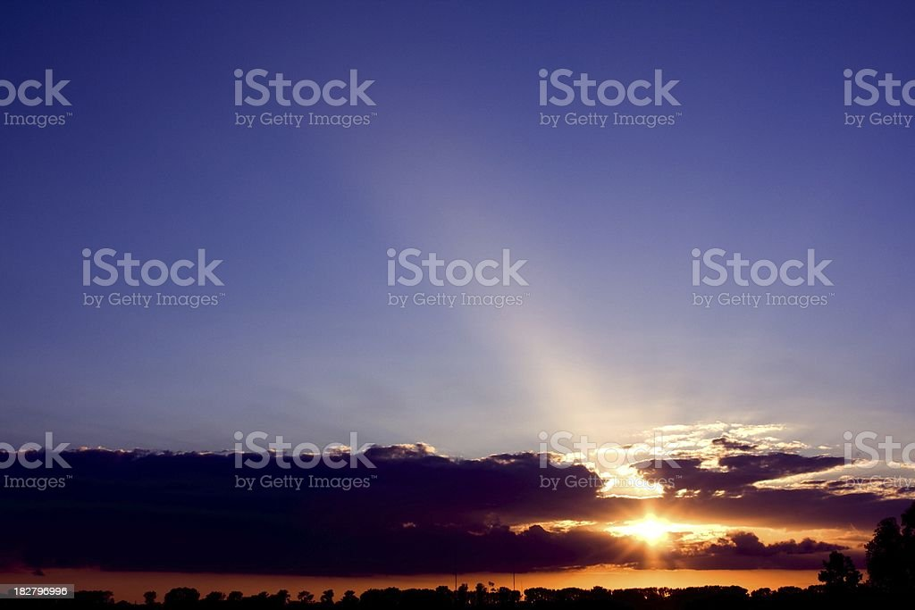 atmospheric sunset with copyspace royalty-free stock photo